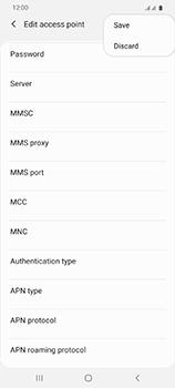 Samsung Galaxy S20 Ultra 5G - Internet and data roaming - Manual configuration - Step 18