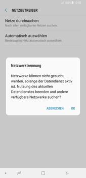 Samsung Galaxy Note9 - Netzwerk - Manuelle Netzwerkwahl - Schritt 8