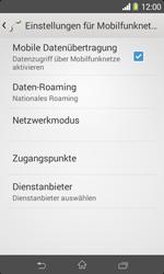 Sony Xperia E1 - Netzwerk - Netzwerkeinstellungen ändern - Schritt 6
