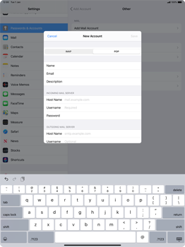 Apple iPad Pro 12.9 (2nd gen) - iPadOS 13 - E-mail - manual configuration - Step 12