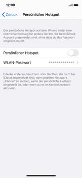 Apple iPhone X - iOS 13 - WiFi - So aktivieren Sie einen WLAN-Hotspot - Schritt 4