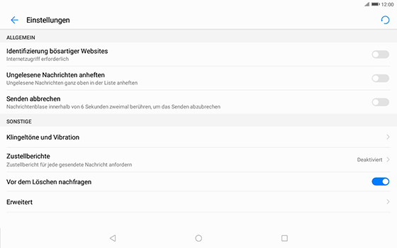 Huawei MediaPad T3 (10.0) LTE - SMS - Manuelle Konfiguration - 0 / 0