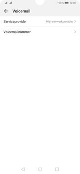 Huawei P30 - Voicemail - handmatig instellen - Stap 8