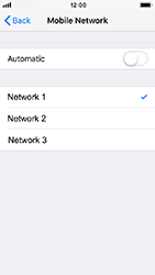 Apple iPhone 5s - iOS 12 - Network - Manually select a network - Step 7