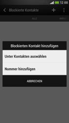 HTC Desire 601 - Anrufe - Anrufe blockieren - Schritt 6