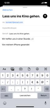 Apple iPhone XS Max - iOS 13 - E-Mail - E-Mail versenden - Schritt 8