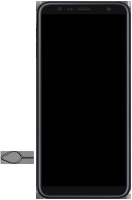Samsung Galaxy J6 Plus - Toestel - simkaart plaatsen - Stap 6