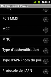 Alcatel OT-983 - Internet et roaming de données - configuration manuelle - Étape 13