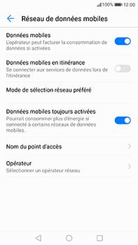 Huawei P10 Plus - Internet et roaming de données - Désactivation du roaming de données - Étape 6