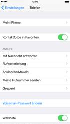 Apple iPhone 6 - Anrufe - Rufumleitungen setzen und löschen - 0 / 0