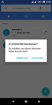Sony Xperia L3 - Anrufe - Anrufe blockieren - Schritt 6
