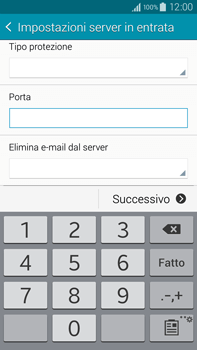Samsung Galaxy Note 4 - E-mail - configurazione manuale - Fase 10