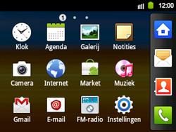 Samsung B5510 Galaxy TXT - Voicemail - Handmatig instellen - Stap 3