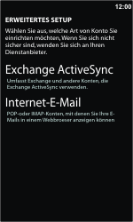 Nokia Lumia 610 - E-Mail - Konto einrichten - Schritt 8