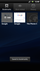 Sony Xperia Arc S - Internet - Internet browsing - Step 9