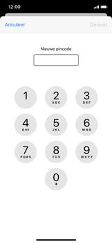 Apple iPhone X - iOS 13 - Beveiliging - Stel de pincode voor je simkaart in - Stap 8