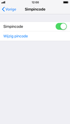Apple iphone-se-met-ios-12-model-a1723 - Beveiliging en ouderlijk toezicht - Hoe wijzig ik mijn SIM PIN-code - Stap 5