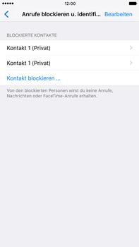 Apple iPhone 6 Plus - iOS 10 - Anrufe - Anrufe blockieren - Schritt 7