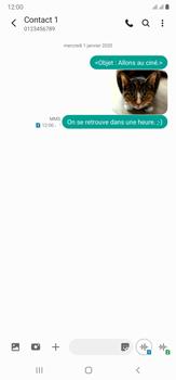 Samsung Galaxy Note20 Ultra 5G - Contact, Appels, SMS/MMS - Envoyer un MMS - Étape 22