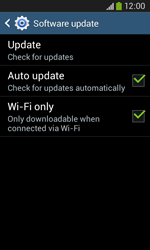 Samsung Galaxy Ace III - Software - Installing software updates - Step 8