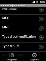 Alcatel OT-903 - Internet - configuration manuelle - Étape 15