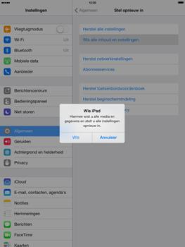 Apple iPad 4th generation (Retina) met iOS 7 - Instellingen aanpassen - Fabrieksinstellingen terugzetten - Stap 6