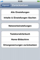 Apple iPhone 3G - Fehlerbehebung - Handy zurücksetzen - Schritt 7