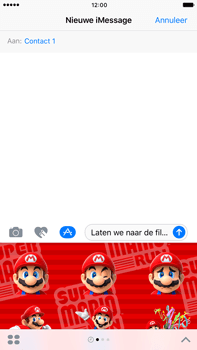 Apple Apple iPhone 6 Plus iOS 10 - iOS features - Stuur een iMessage - Stap 22
