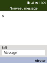 Alcatel 3088X - Contact, Appels, SMS/MMS - Envoyer un SMS - Étape 5