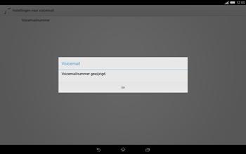 Sony Xperia Tablet Z2 (SGP521) - Voicemail - handmatig instellen - Stap 9