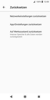 Sony Xperia XZ2 - Fehlerbehebung - Handy zurücksetzen - 8 / 12