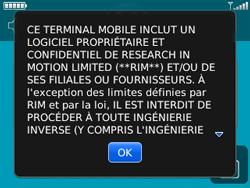 BlackBerry 8520 - Premiers pas - Créer un compte - Étape 3