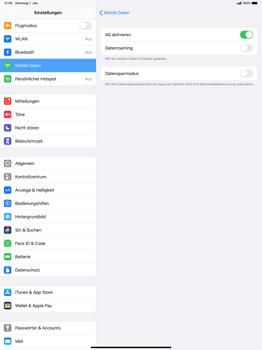Apple iPad Pro 12.9 (2018) - ipados 13 - Netzwerk - So aktivieren Sie eine 4G-Verbindung - Schritt 6