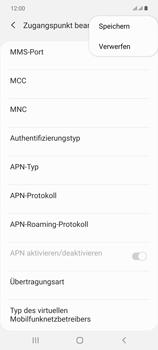 Samsung Galaxy Note 20 5G - Internet und Datenroaming - Manuelle Konfiguration - Schritt 18