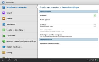 Samsung P7500 Galaxy Tab 10-1 - Bluetooth - Headset, carkit verbinding - Stap 5