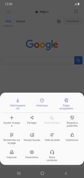Samsung Galaxy Note 10+ - Internet et connexion - Naviguer sur internet - Étape 9