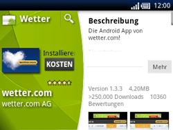 Sony Ericsson Xperia X10 Mini Pro - Apps - Herunterladen - Schritt 13