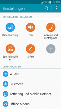 Samsung Galaxy Note 4 - WiFi - WiFi-Konfiguration - Schritt 4