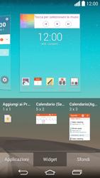 LG G3 - Operazioni iniziali - Installazione di widget e applicazioni nella schermata iniziale - Fase 7