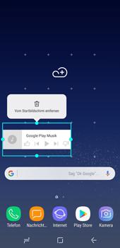 Samsung Galaxy S8 - Android Oreo - Startanleitung - Installieren von Widgets und Apps auf der Startseite - Schritt 9