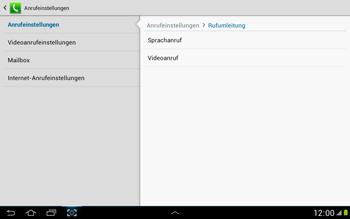 Samsung Galaxy Note 10-1 - Anrufe - Rufumleitungen setzen und löschen - 7 / 11