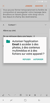 Samsung Galaxy Note 8 - E-mails - Envoyer un e-mail - Étape 12