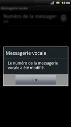 Sony Xperia Arc - Messagerie vocale - Configuration manuelle - Étape 8