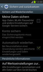 Samsung I8190 Galaxy S3 Mini - Fehlerbehebung - Handy zurücksetzen - Schritt 7