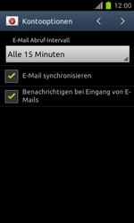 Samsung Galaxy S II - E-Mail - Manuelle Konfiguration - Schritt 14