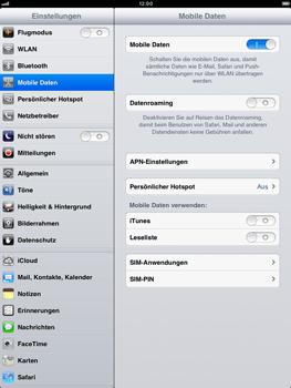 Apple iPad mini - Ausland - Im Ausland surfen – Datenroaming - Schritt 6