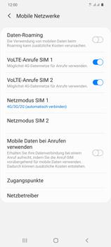 Samsung Galaxy S20 Plus 5G - Netzwerk - So aktivieren Sie eine 4G-Verbindung - Schritt 8