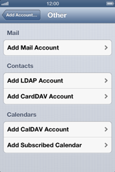 Apple iPhone 4S - E-mail - Manual configuration - Step 6