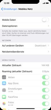 Apple iPhone X - Internet und Datenroaming - Prüfen, ob Datenkonnektivität aktiviert ist - Schritt 4