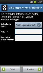 Samsung Galaxy S - Apps - Konto anlegen und einrichten - 12 / 21